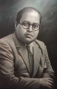 Dr B.R. Ambedkar, portrait in the Samyukta Maharashtra Museum, Shivaji Park