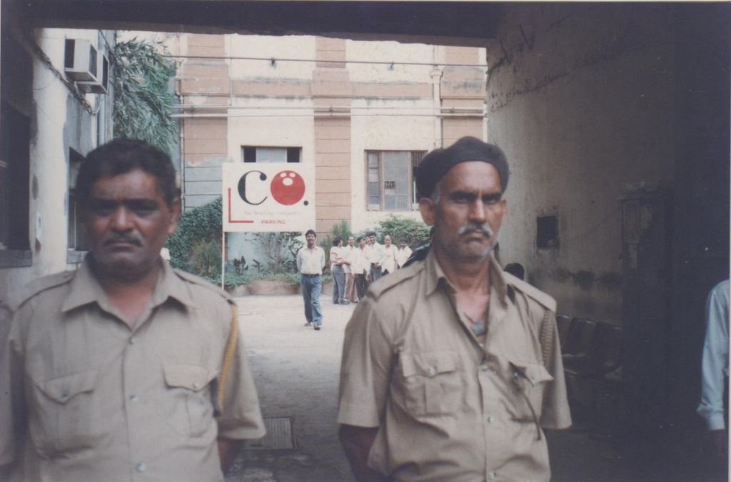 Security Guards at the Bowling Company, Phoenix Mills, 1999