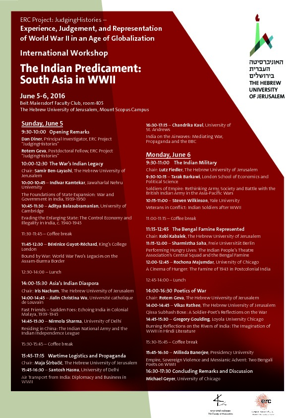 The Indian Predicament: South Asia in WWII