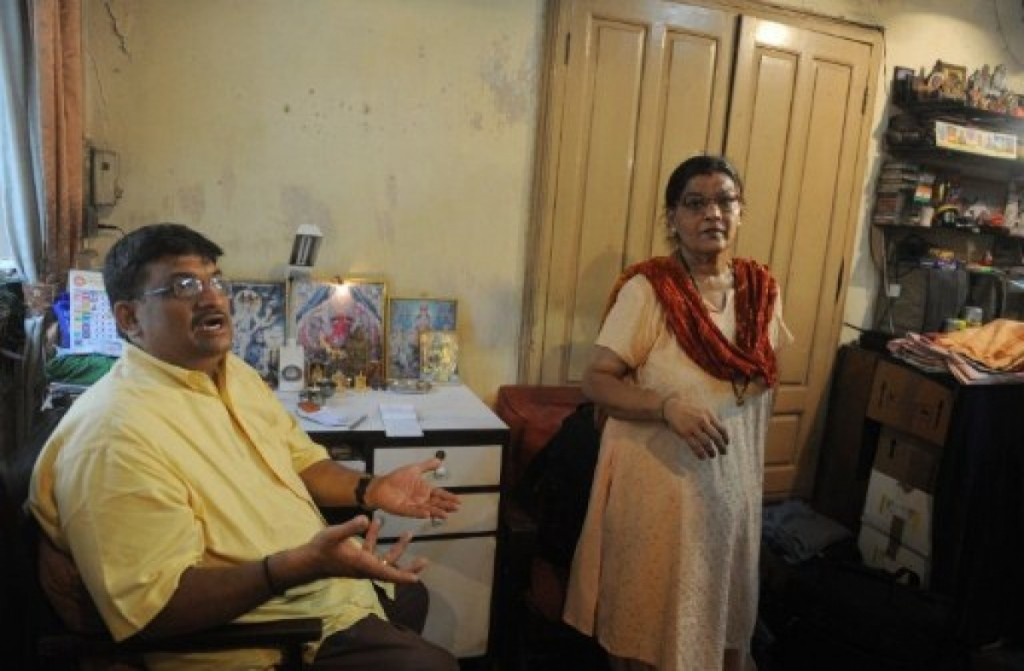 Atul Rao and Smita Panwalkar-Rao, first-floor tenants of Pathare Prabhu Building, who should receive a rehabilitation flat in Trump Tower Mumbai